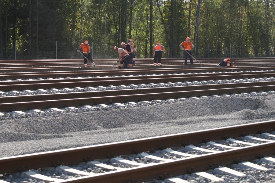 Repair of railway lines 12